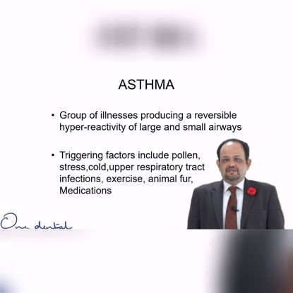 Picture of Does asthma have any significance in dental treatments?